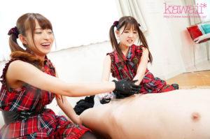 元外神田アイドルの桜もこと永瀬ゆいのAV動画の手コキ画像