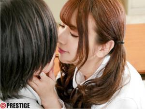 ファンの童貞を自ら筆下ろしする園田みおんの奇跡のセックスAV動画のキス画像