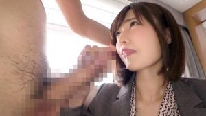 MGS素人系動画ナンパTVの藤森里穂のAV動画のフェラチオ画像