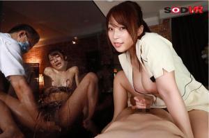 八乃つばさと東條なつのエステNTRVRのAV動画のエロ手コキ画像